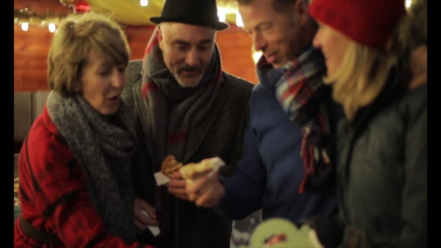 Eating Waffles At The Christmas Market video