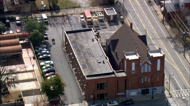 Ebenezer Baptist Church  - Aerial View - Georgia,  Fulton County,  United States video