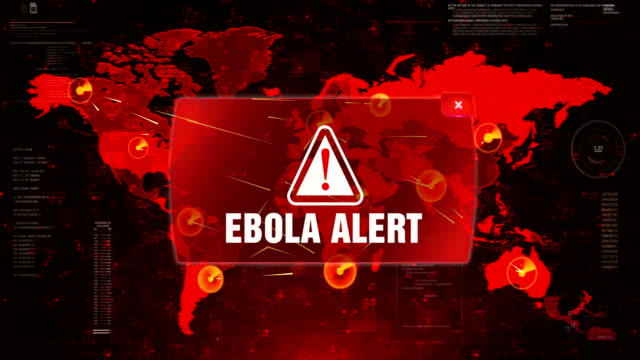 Ebola Alert Alert Warning Attack on Screen World Map Loop Motion. Ebola Alert Alert Warning Message Attack on World map. Wire frame Radar Network Seamless loop Motion Background. UI Elements HUD Sci Fi interface. senegal stock videos & royalty-free footage