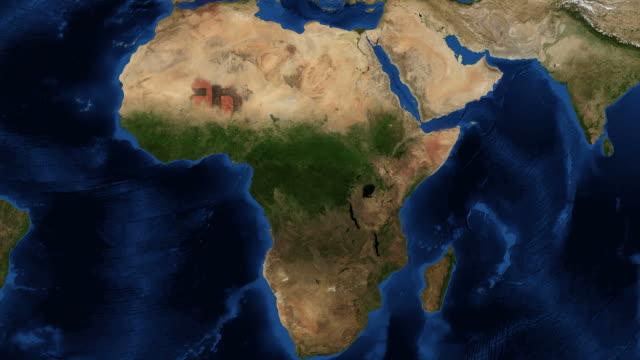 virus ebola in africa animazione - sierra leone video stock e b–roll