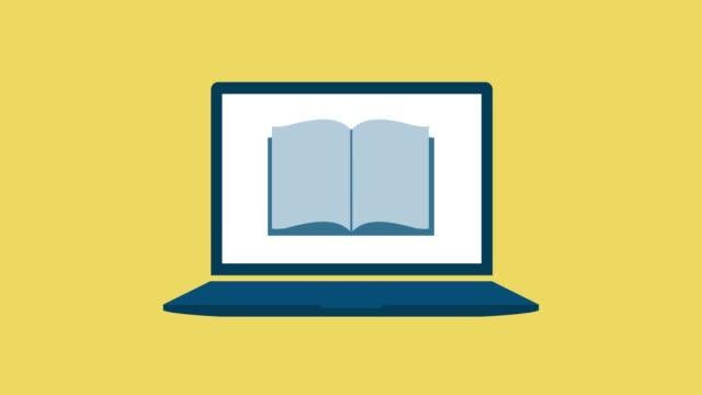 電子書籍のコンセプト - アイコン点の映像素材/bロール
