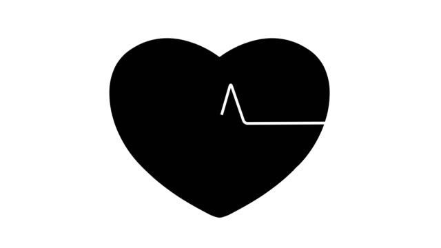 4K Ecg Animation - Heart Background |Loopable