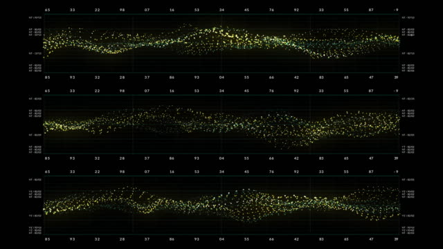 vídeos de stock e filmes b-roll de ecg ekg screen - instrumento para diagnóstico
