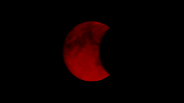 Eclipse Of Blood Red Moon Total eclipse of scary red moon count dracula stock videos & royalty-free footage
