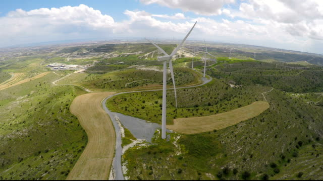 Eco-friendly wind farms generating pure energy without damaging the environment video