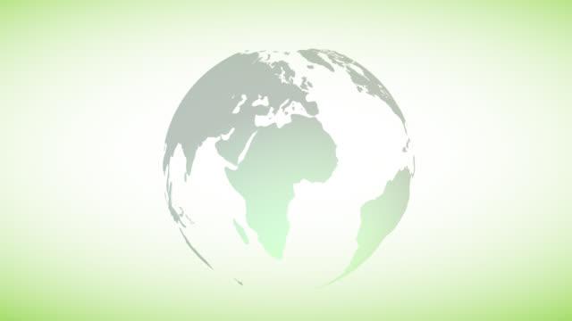 vídeos de stock e filmes b-roll de ecology globe motion with clock.world change time concept - climate clock