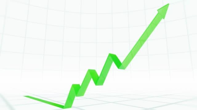 economic growth - arrow filmów i materiałów b-roll