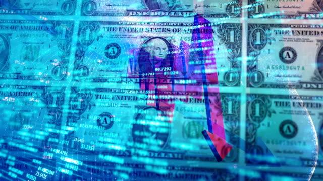 stockvideo's en b-roll-footage met economische recessie concept achtergrond - yenteken