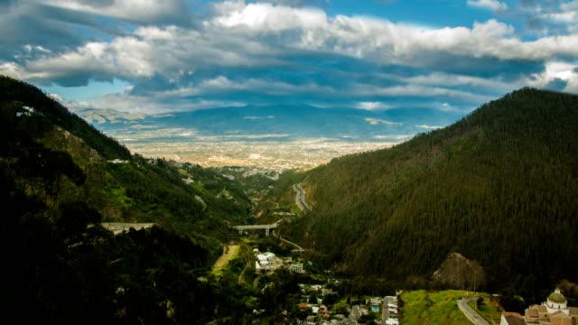 Ecuador timelapse guapulo parque metropolitano timelapse - vídeo