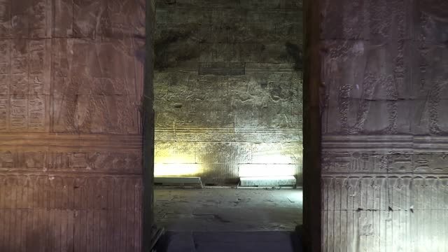 エドフはまた、イドフをスペルトし、ビートとして古代に知られています。エドフはホルスのプトレマイック神殿と古代の集落の場所です。エジプト。 - 石垣点の映像素材/bロール