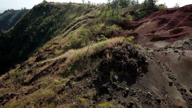 Edge of Steep Mountain Ridges on Top of Massive Valley video