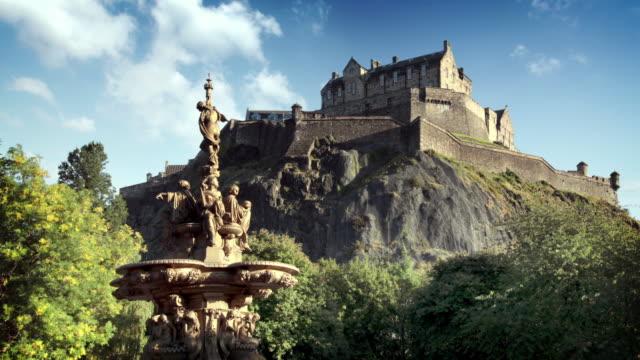 Edinburgh Castle, Scotland, UK Timelapse of Edinburgh Castle, Scotland, UK scotland stock videos & royalty-free footage