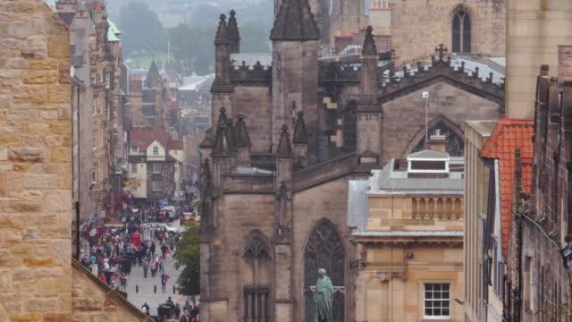 Edinburgh, Scotland. The Royal Mile Edinburgh, Scotland. The Royal Mile church architecture stock videos & royalty-free footage
