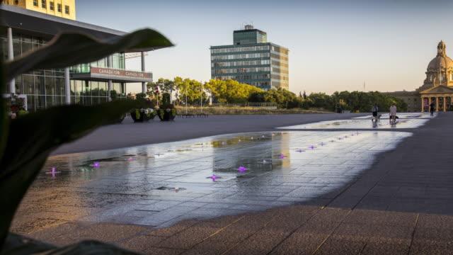 Edmonton Fountain Timelapse video