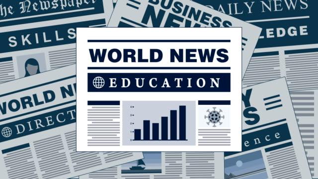 Education and Personal Development Breaking News Newspaper Headlines Development fresh breaking news headlines newspapers animation school counselor stock videos & royalty-free footage