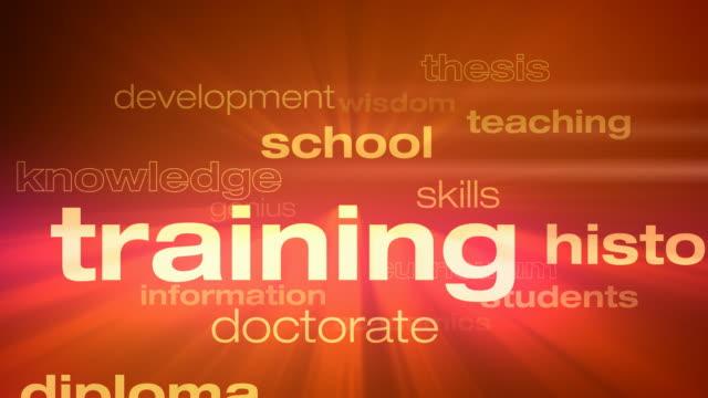 vidéos et rushes de l'éducation et la formation scolaire mots boucle - professeur(e)