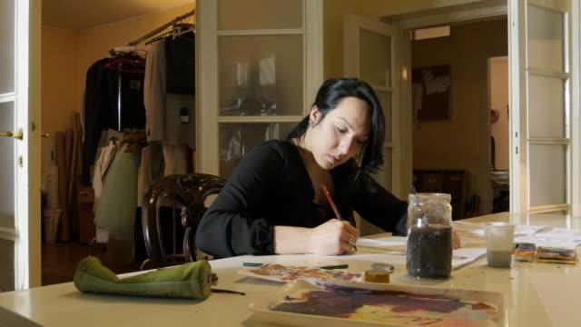 Education. Art Class. Fashion Students Drawing Women's Fashions. video