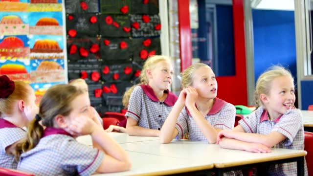 Education Children Answering a Question in Class video