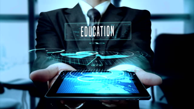 Education Glory Money Future Concept Businessman Using Hologram Tablet  Technology Loop Stock Video - Download Video Clip Now - iStock
