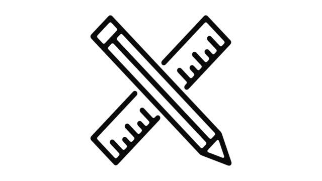 utbildning motion linjeobjekt - blyertspenna bildbanksvideor och videomaterial från bakom kulisserna