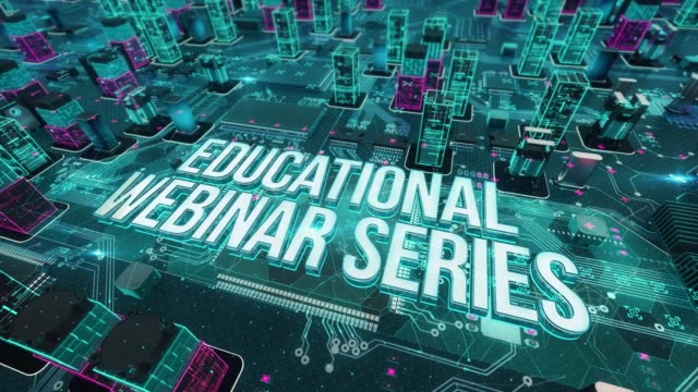 Educational webinar series with digital technology concept Digital city, diversity of business, technology and internet concept online meeting stock videos & royalty-free footage