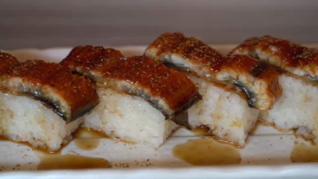 aal sushi - japanisches essen stock-videos und b-roll-filmmaterial