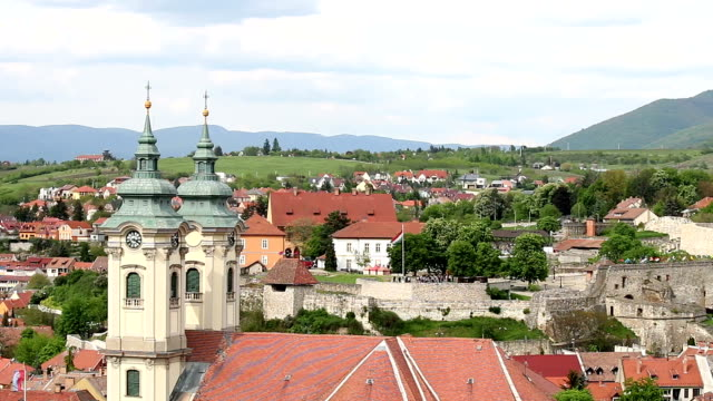Eger cityscape Hungary Eger cityscape Hungary hungary stock videos & royalty-free footage