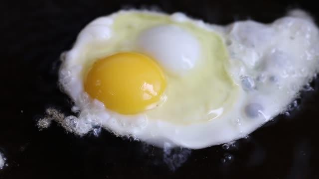 egg frying pan - icon set healthy video stock e b–roll