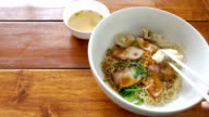 istock Egg noodle with roasted pork bowl. 1045918252