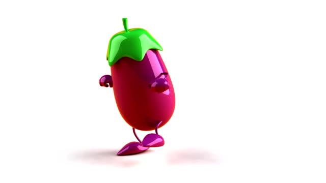 Eggplant dancing hiphop video