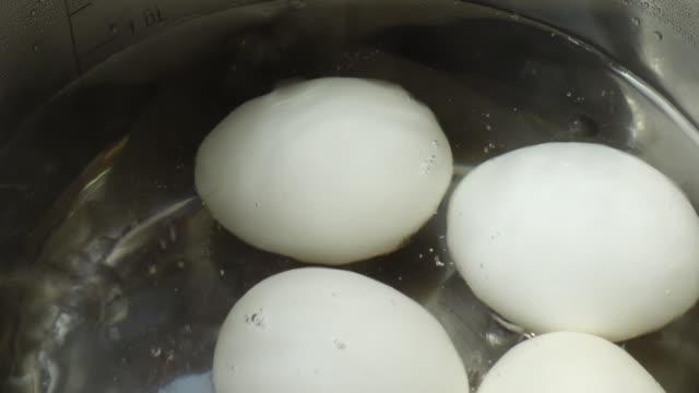 ägg i en stek panna. - kokat ägg bildbanksvideor och videomaterial från bakom kulisserna