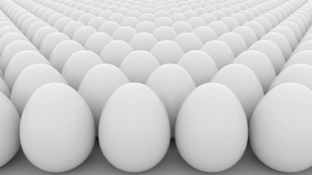 eggs loopable animation. order, start, equality or sameness concepts - balance graphics video stock e b–roll