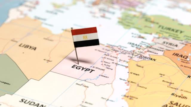 egypt with national flag - египет стоковые видео и кадры b-roll