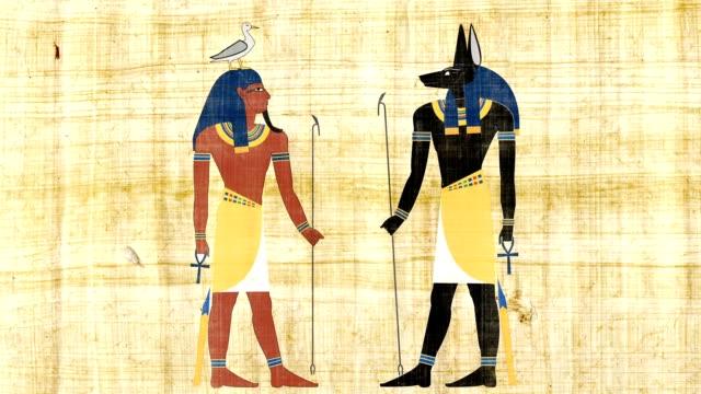 エジプトの神アヌビスと geb - 過ぎ越しの祭り点の映像素材/bロール
