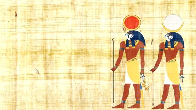 エジプトの神々 の ra とコンス - 過ぎ越しの祭り点の映像素材/bロール