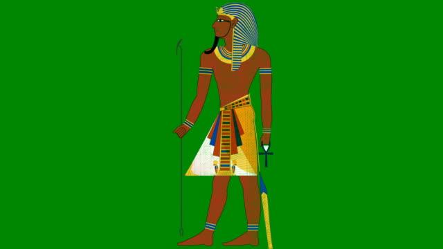 vídeos y material grabado en eventos de stock de faraón egipcio sobre un fondo de pantalla verde - pascua judía