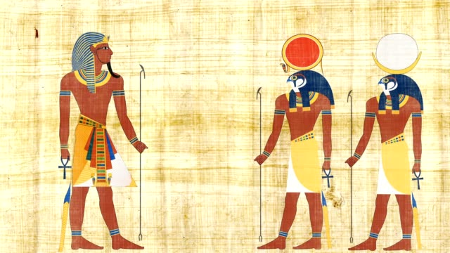 ra とコンスのエジプトのファラオ - 過ぎ越しの祭り点の映像素材/bロール