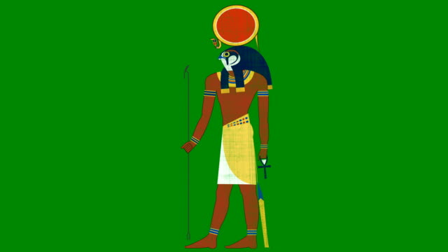 Egyptian Sun God Ra on a Green Screen Background video