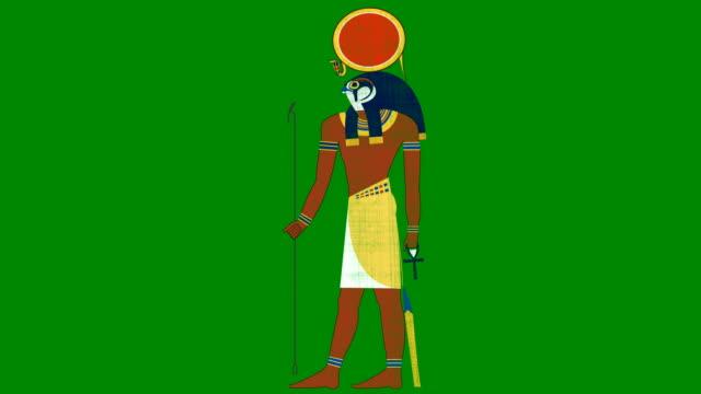 vidéos et rushes de dieu égyptien du soleil ra sur un fond d'écran vert - pâque juive
