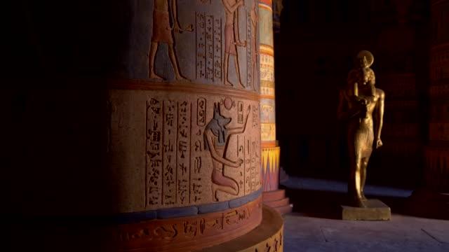 egyptian temple. professional steadicam shot. - archeologia video stock e b–roll
