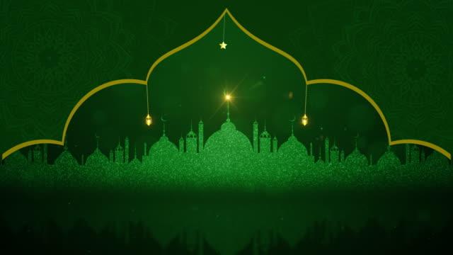 kurban bayramı mübarek ve geleneksel fenerler ramazan i̇slam, müslüman toplum festivali arka plan - kurban bayramı stok videoları ve detay görüntü çekimi