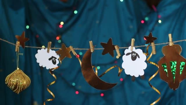 vídeos y material grabado en eventos de stock de eid al-adha. fiesta del sacrificio. festival islámico - eid mubarak