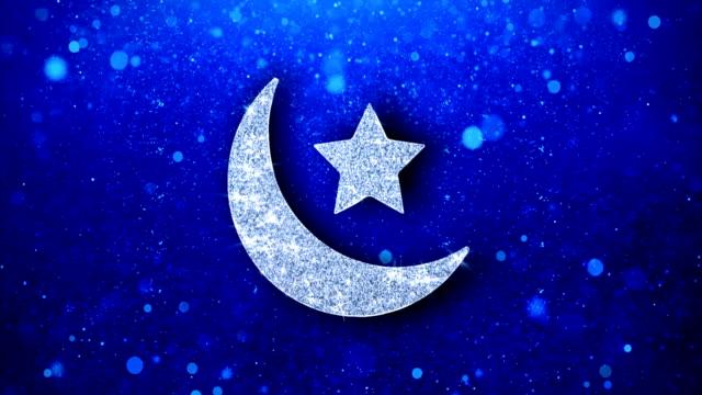 eid islamisk ikon blinkande glitter glödande glans partiklar. - eid ul adha bildbanksvideor och videomaterial från bakom kulisserna