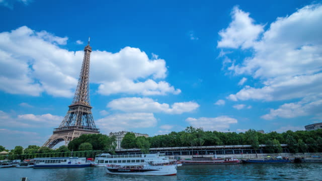 Eiffel Tower and Seine river video