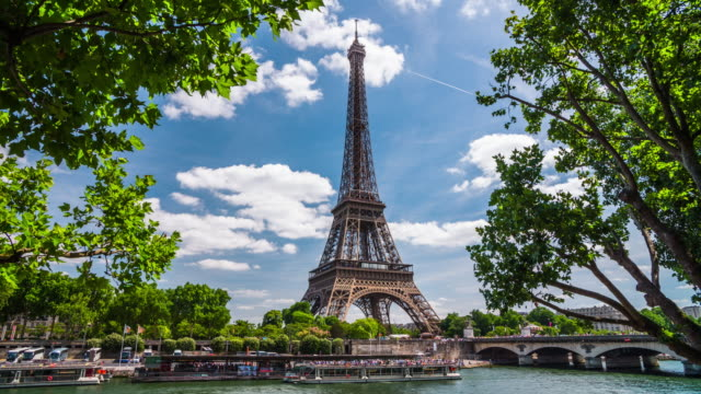 Eiffel tower in Paris - 4K Cityscapes, Landscapes & Establishers