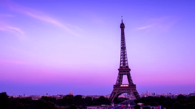 Eiffel tower in Paris, France - Stock Video video