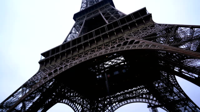 Eiffel Tower in Paris, France - video