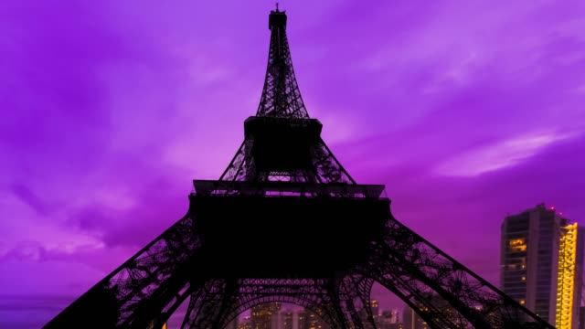 Eiffel Tower Parisian sunset sky