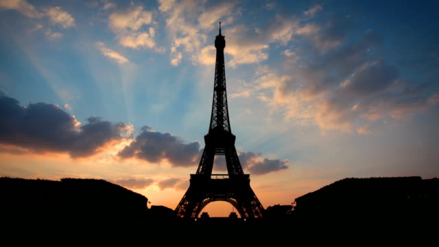 Eiffel Tower Sunset, Paris video