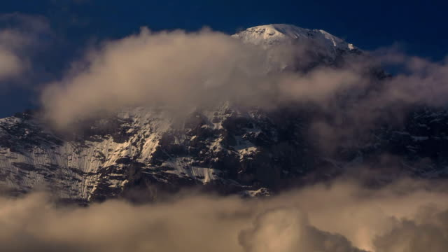 Eiger North face covered in snow and ice video